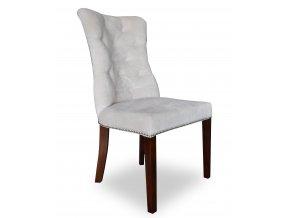 Luxusní prošitá židle Asher s klepadlem a připínáčky, vhodná do reprezentativních  salónů