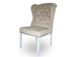 Luxusní prošitá židle Ears II s připínáčky a klepadlem,  Chesterfield