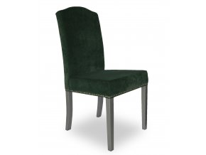 Designová židle Comforta s připínáčky a klepadlem, barokní tvar opěradla