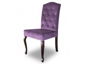 Luxusní prošitá židle Král Slunce s knoflíky, fialová