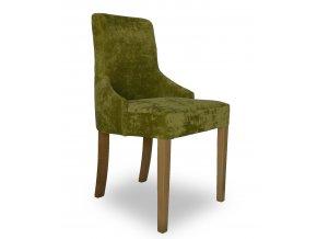 Luxusní prošitá židle Queen, zelená, hladká