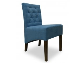 Moderní prošitá židle Comforta se šikmým sedákem, nízká