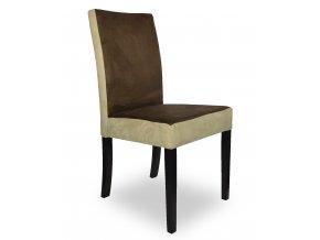 Designová židle Comforta se zeštíhleným sedákem, hnědo-béžová