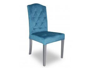 Designová prošitá židle se zeštíhleným sedákem, opěradlem Král Slunce