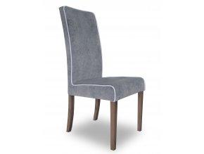 Designová židle Comforta se zeštíhleným sedákem a lemováním, vysoká