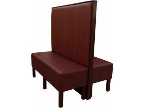 Vysoký restaurační box s čalouněnou lavicí | Ressed