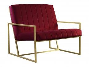 Moderní lavice Enzo ve zlatém lesku | Ressed