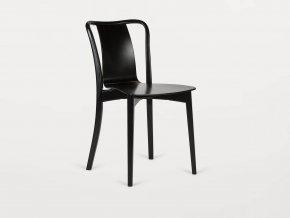 Celodřevěná židle v černém provedení | Ressed
