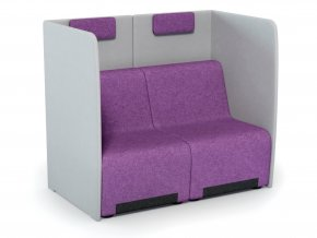 2-místná pohovka s akustickým panelem pro komerční prostory | Ressed