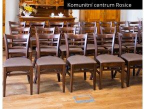 Ohýbaná masivní židle s čalouněným sedákem - stohovatelná| Ressed