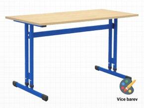 Školní lavice pro 2 osoby s nastavitelnou výškou desky stolu | Ressed