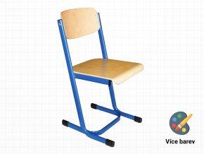 Ocelová školní židle s dřevěnou opěrkou a sedákem | Ressed