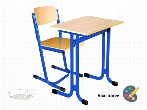 Školní lavice s židlí pro žáky základních a středních škol | Ressed
