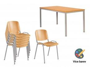 Dřevěný set do školních jídelen pro 6 žáků | Ressed