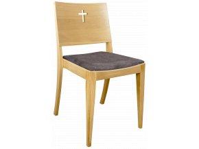 Dubová čalouněná církevní židle se speciálními vzory pro římskokatolickou církev | Ressed