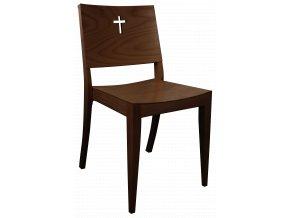 Tmavá církevní židle s křížem na opěradle pro římskokatolické církve | Ressed