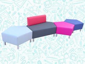 Modulové taburety do školních chodeb | Ressed