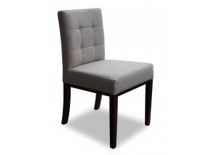 Designová židle Aredo, šedá s prošitým opěradlem