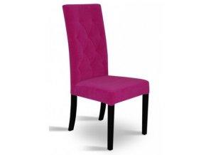 Designová prošitá židle se zeštíhleným sedákem, restaurační