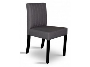 Designová prošitá židle se zeštíhleným sedákem, jídelní