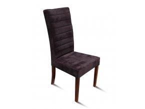 Designová prošitá židle se zeštíhleným sedákem, vysoká, tmavě šedá