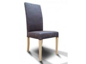 Designová židle Comforta se zeštíhleným sedákem, dřevěná, vysoká