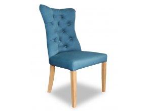 Luxusní prošitá židle Asher, Chesterfield - anglický styl