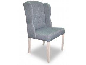 Luxusní prošitá židle Ears s klepadlem a připínáčky, jídelní