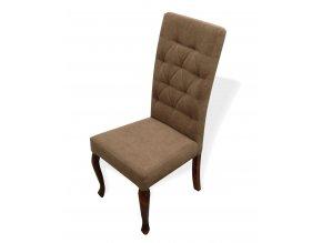 Luxusní prošitá židle Král Slunce, čalouněná