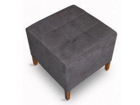 Luxusní prošitý taburet s plným sedákem