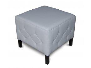 Luxusní prošitý taburet s plným sedákem, podnožka