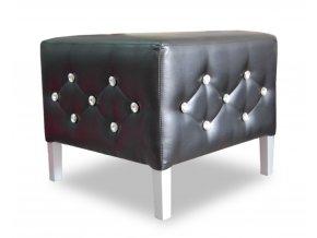 Luxusní taburet prošitý ozdobnými kamínky