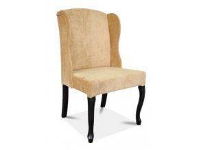Luxusní židle Ears, světle béžová