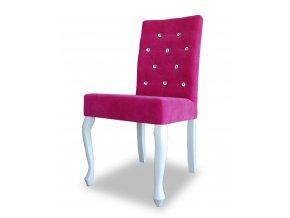 Luxusní židle Král Slunce s kamínky, veselé barvy