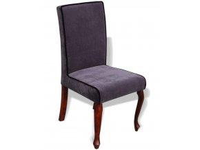Luxusní židle Král Slunce s lemováním, jídelní, nízká