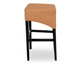 Moderní barová židle se šikmým sedákem, béžová
