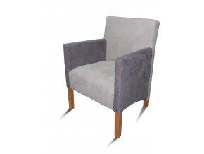 Moderní křeslo se šikmým sedákem, šedé, pohodlné