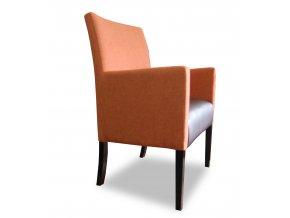 Moderní křeslo se zesíleným sedákem