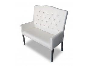 Moderní prošitá lavice s kamínky, imitace Swarowski