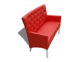 Moderní prošitá lavice se šikmým sedákem