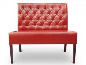 Moderní prošitá lavice se zesíleným sedákem, bez područek