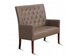 Moderní prošitá lavice se zesíleným sedákem
