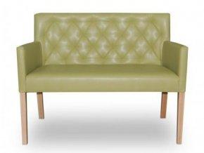 Moderní prošitá lavice se zeštíhleným sedákem