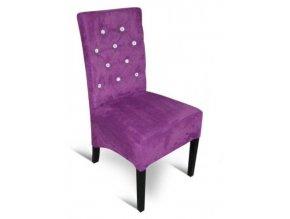 Moderní prošitá židle s kamínky, čalouněná