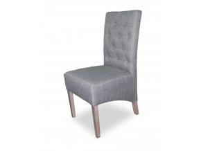 Moderní prošitá židle s knoflíky, šikmý sedák