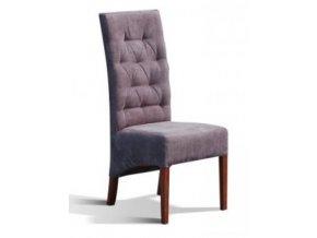 Moderní prošitá židle se šikmým sedákem