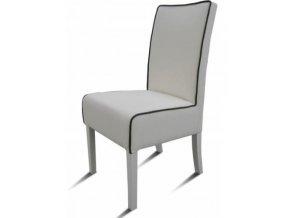 Moderní židle Comforta s lemováním, čalouněná, dřevěná