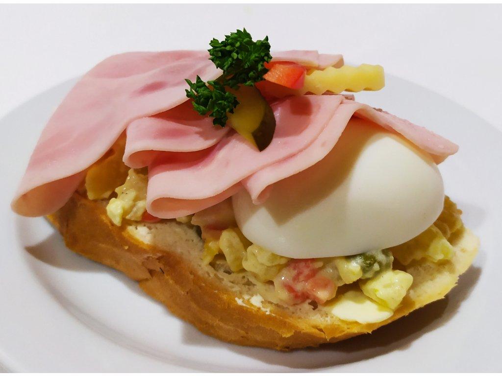 5Ks Chlebíček- šunka, bramborový salát