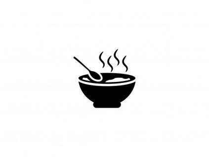 Polévka čočková s párkem