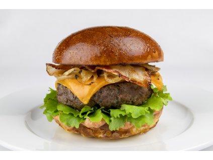 Hovězí burger + hranolky + tatarka